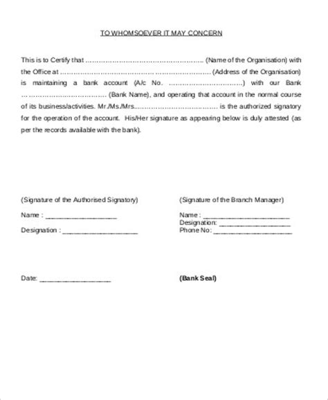 Bank Letter Verification Sle Sle Verification Letter 9 Exles In Word Pdf
