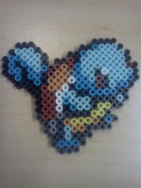 squirtle perler perler bead squirtle by bkknoll on deviantart