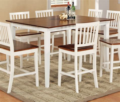 white counter height dining table antique white dining room set white counter height table