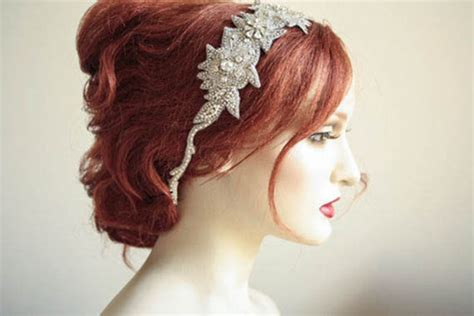 Vintage Inspired Wedding Hair Pieces by Wedding Hair Vintage Inspired Roza Headpiece Made