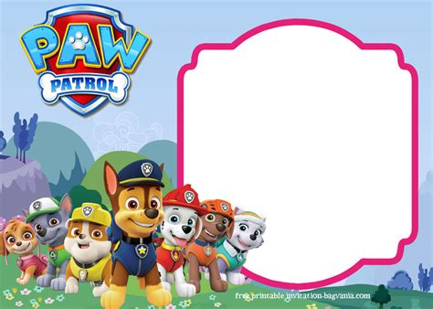 paw patrol birthday card template free paw patrol birthday invitation templates most complete