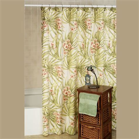 tropical shower curtains sea island tropical shower curtain