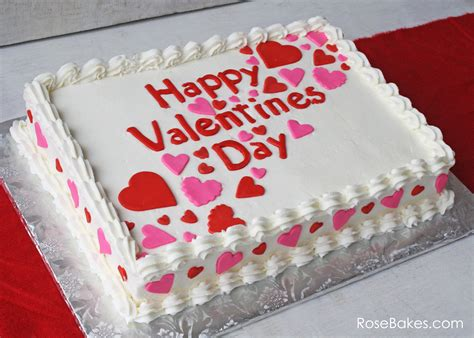 valentines cake happy s day a simple valentines sheet cake
