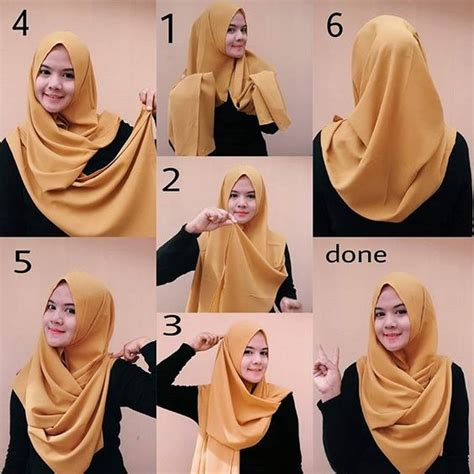 foto tutorial jilbab pashmina simple 15 tutorial hijab pashmina wajah bulat simple 1000