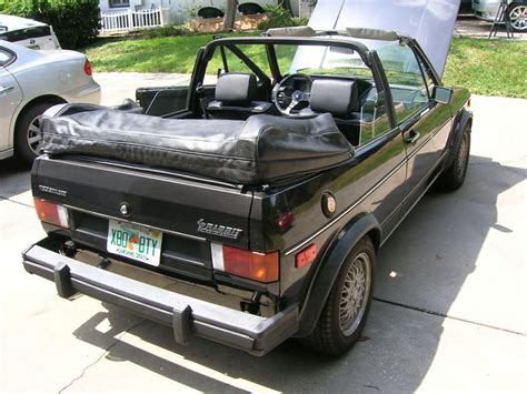 volkswagen rabbit convertible for sale 1984 vw callaway rabbit convertible rear quarter german