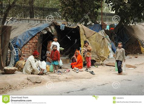 family area poor family at slum area in delhi india editorial image