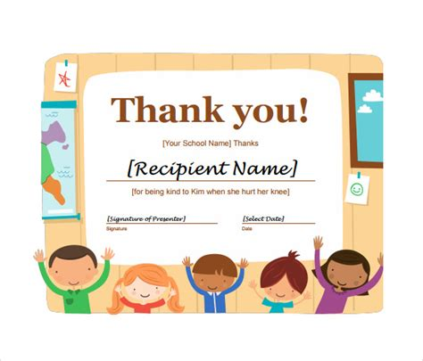 thank you certificates templates sle thank you certificate template 10 documents