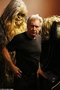 Harrison Ford Chewbacca Wars The Awakens Harrison Ford And Carrie