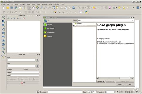 qgis road graph tutorial road graph plugin missing in qgis 2 8 3 geographic
