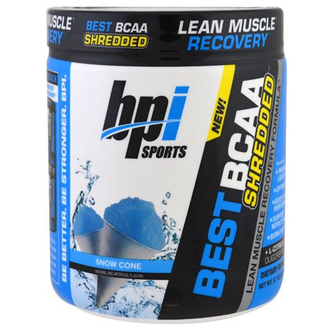 7 Sports Ideal For by Bpi Sports Best Bcaa Shredded Lean Recovery