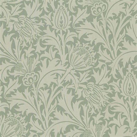 Fabrics And Home Interiors Thistle Fabric Slate Gold Dmcoth201 William Morris