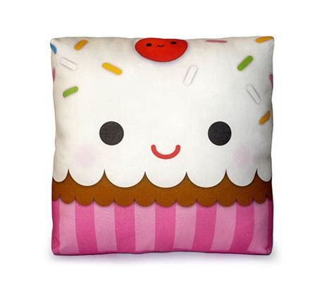 mini cupcake pillow in material and objects related with