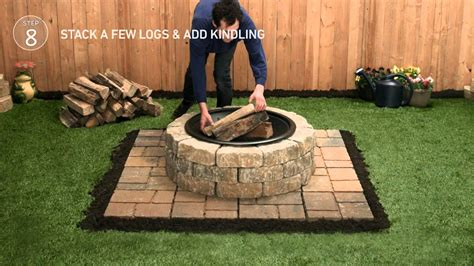 backyard pit lowes lowe s firepit tap thru how to