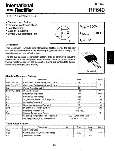 transistor mosfet rds transistor mosfet rds 28 images mosfet rdson linear or saturation ece irlz44n datasheet