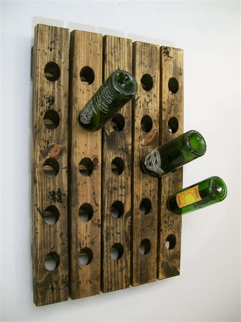 wine riddling rack distressed wood antique style winerack