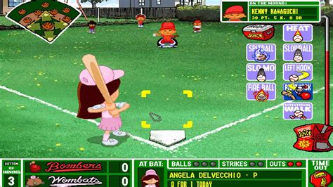 backyard baseball online game backyard baseball 1997 the worst single play ever youtube