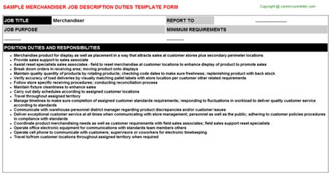 Fashion Merchandiser Description by Description Merchandiser Katytransportation