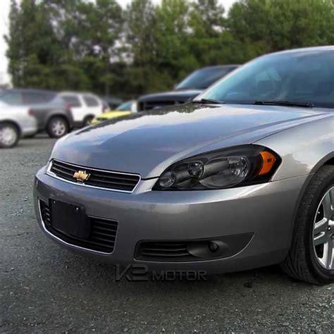 2006 impala headlight 2006 2015 chevy impala headlights black