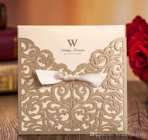 customized invitation cards free 2 gold wedding invitations custom invitations