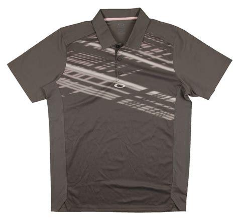 Big Size Polo Shirt Oakley Nike new s oakley huxley polo golf shirt grey white pink accents size large ebay