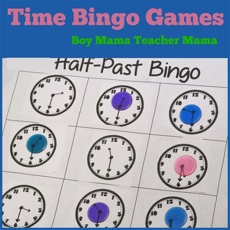 printable clock bingo teacher mama time bingo games boy mama teacher mama