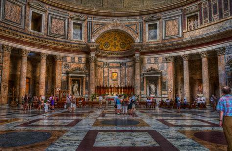 Interior Of Pantheon pantheon the ancient building traveldigg