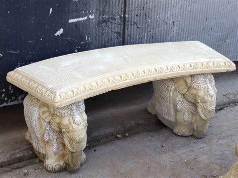 stone top benches elephant design stone garden bench with straight top stonecraft stourbridge