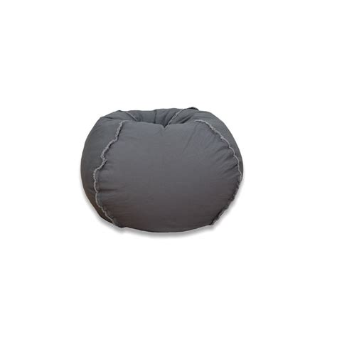ace casual furniture charcoal grey canvas bean bag 9803501