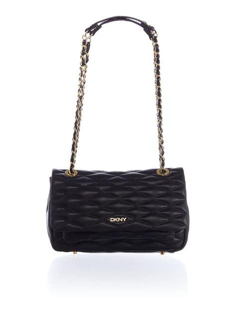 8103 Black Shoulder Bag dkny quilted black flap shoulder bag in black lyst