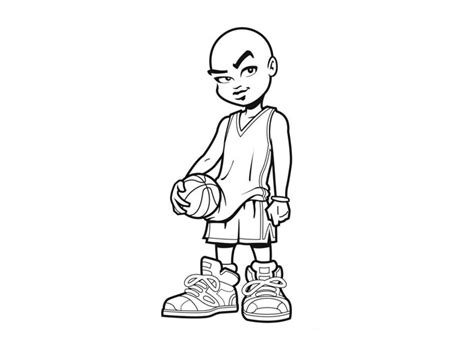 basketball player coloring coloring part 4