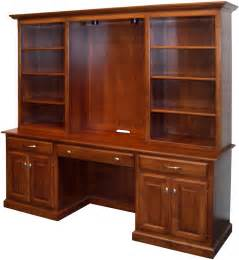 Bookshelves With Desk Amish Naper Bookcase Desk