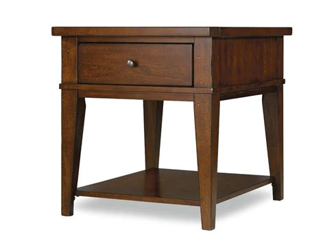 Accent Table L Hammary Living Room Rectangular Drawer End Table Kd 197 Family Room End Tables Cbrn Resource