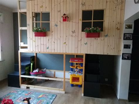 Kids Wall Ideas by Ikea Kura Double Decker Playhouse Ikea Hackers Ikea
