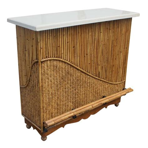 Wicker Top Bar Stools by Rattan Granite Top Bar With Two Stools For Sale At 1stdibs