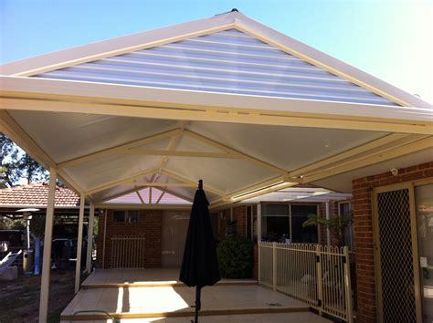 pergola gable end screen plastic roof panel installed horizontally decks pergolas patios
