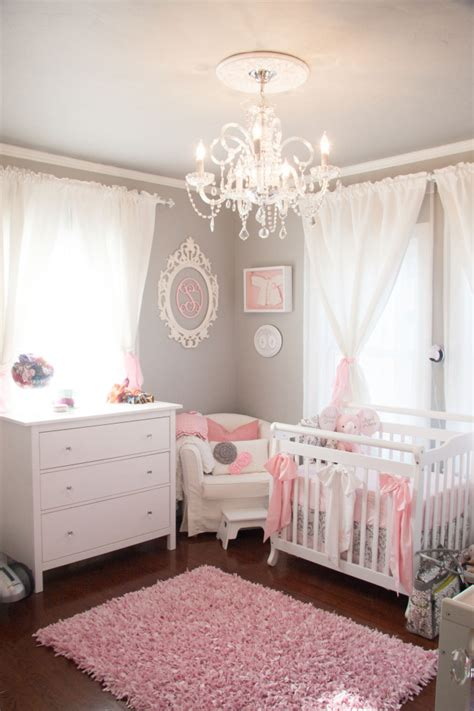 pink and gray baby nurseries images