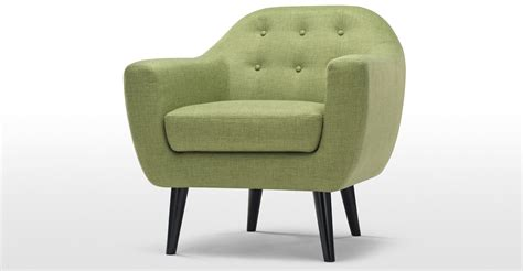 green armchairs ritchie armchair in lime green made com