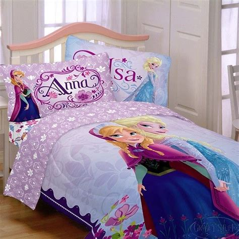 elsa bed disney frozen anna and elsa reversable twin comforter