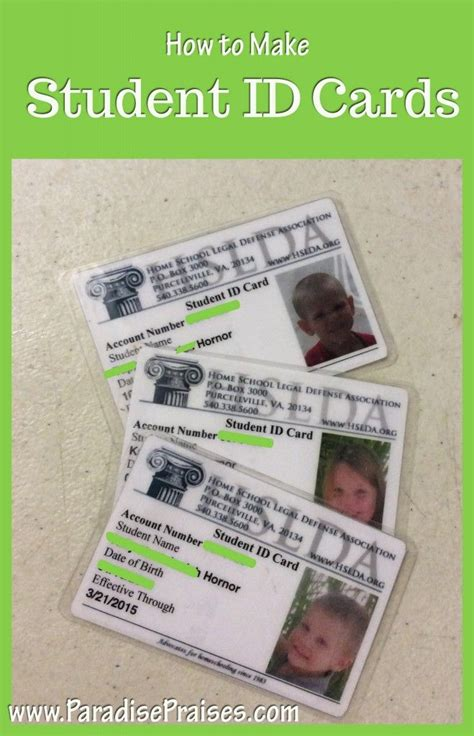 homeschool id card template how to make student id cards free printable students