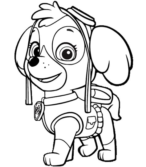 paw patrol free colouring pages