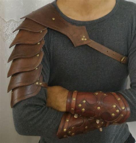 Armadura Medieval Viking Swordplay Couro   Bracelete   R$ 289,90 em Mercado Livre