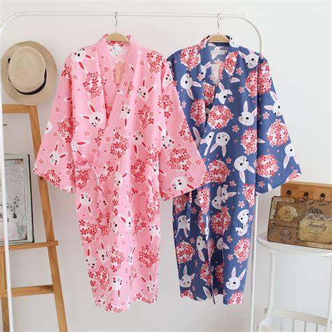 kimono pyjamas pattern cotton bathrobes summer cotton robes for women cotton