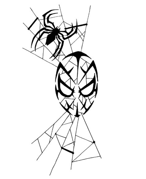 spiderman tribal tattoo tribal clipart best