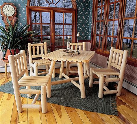 log dining room sets rustic cabin dining of natural cedar logs