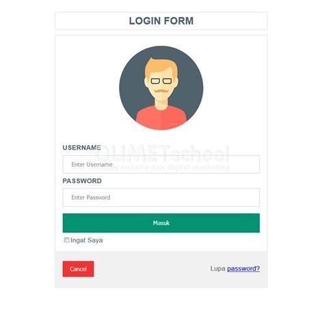 membuat website menarik dengan html membuat desain form login menarik dengan css kursus