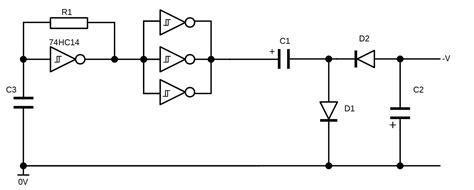 a switched capacitor voltage generator آموزش ساخت مدار ژنراتور ولتاژ منفی با قطعات ارزان منفی ساز ولتاژ ساختنی