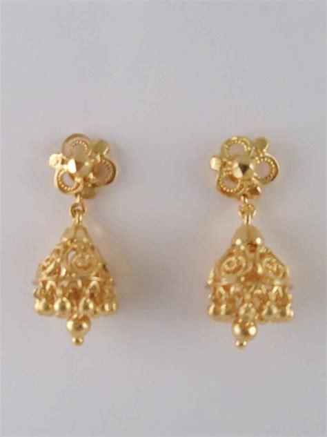 Simple Gold Earrings   ANDINO JEWELLERY
