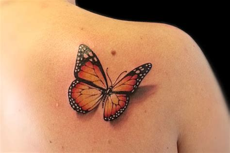 Tattoo 3d Farfalla | farfalla 3d tattoo by roma ink