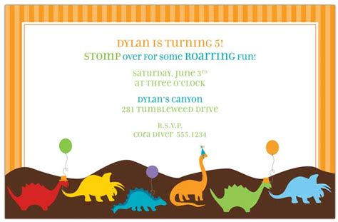 dinosaur invitation templates view r 331135 quot dino invitation quot