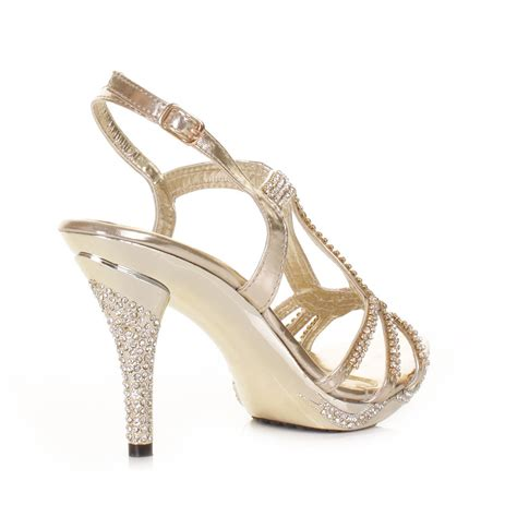 gold high heels cheap gold strappy heels for wedding